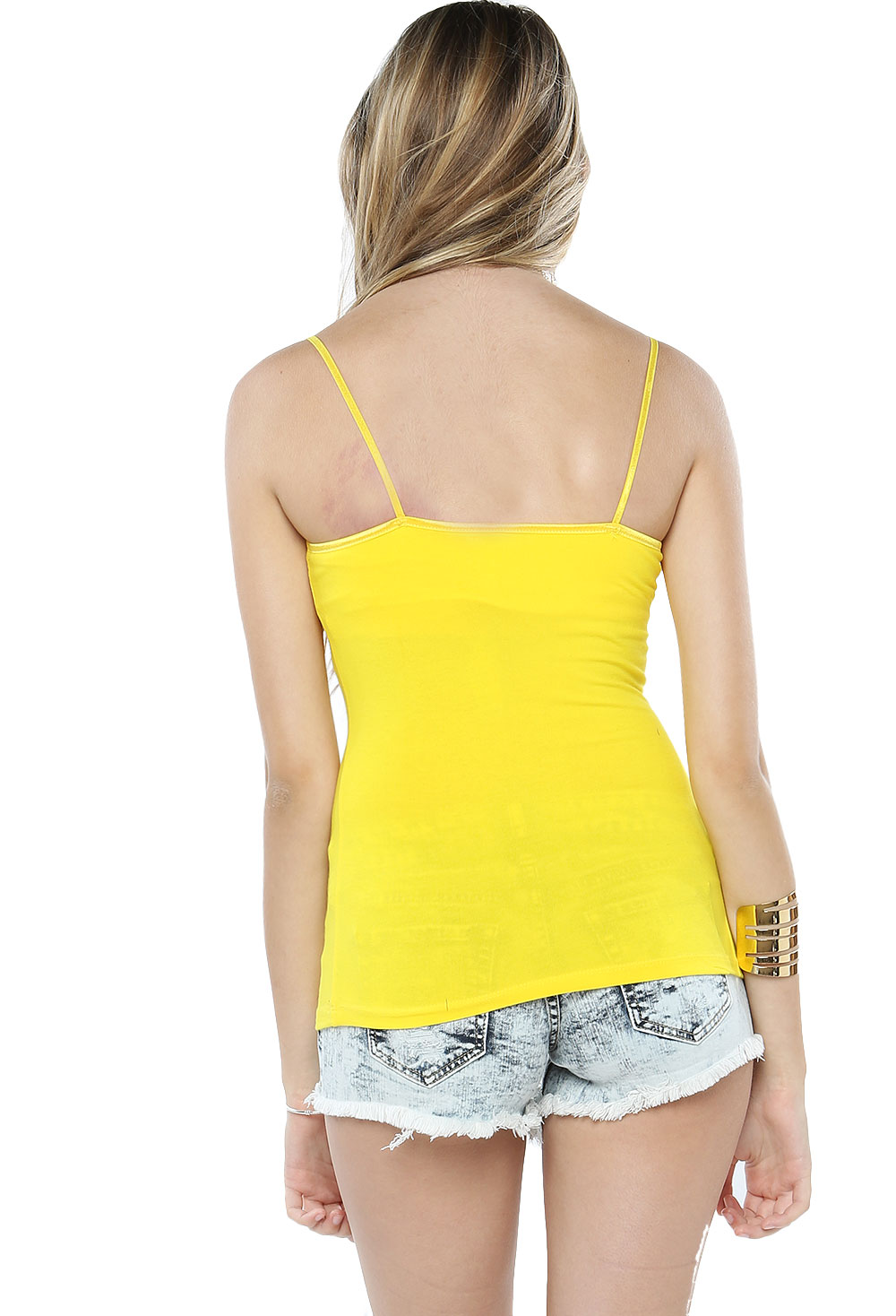 Built In Bra Basic Cotton Cami Top Shop Basic Tops At