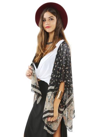 Paisley W/ Floral Kimono Cardigan | Shop Cardigans at Papaya Clothing