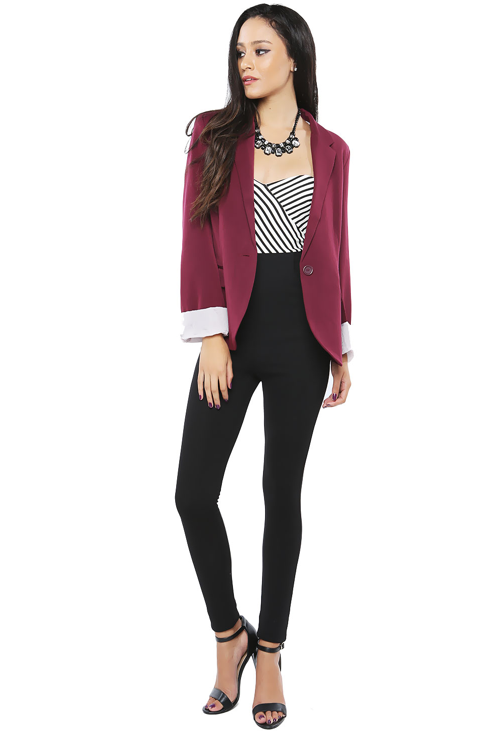 Striped Roll-Up Jacket
