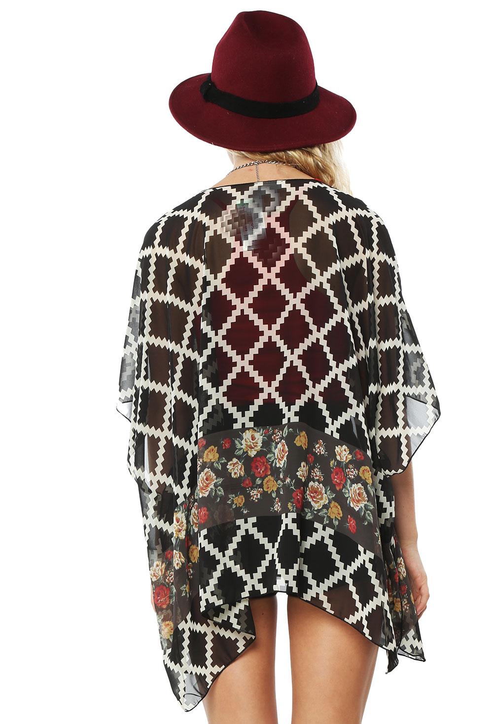 Floral Chiffon Kimono Cardigan | Shop Sweaters & Cardigans at ...