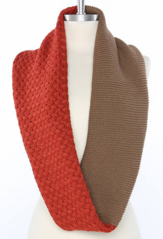 Two Color Infinity Scarf