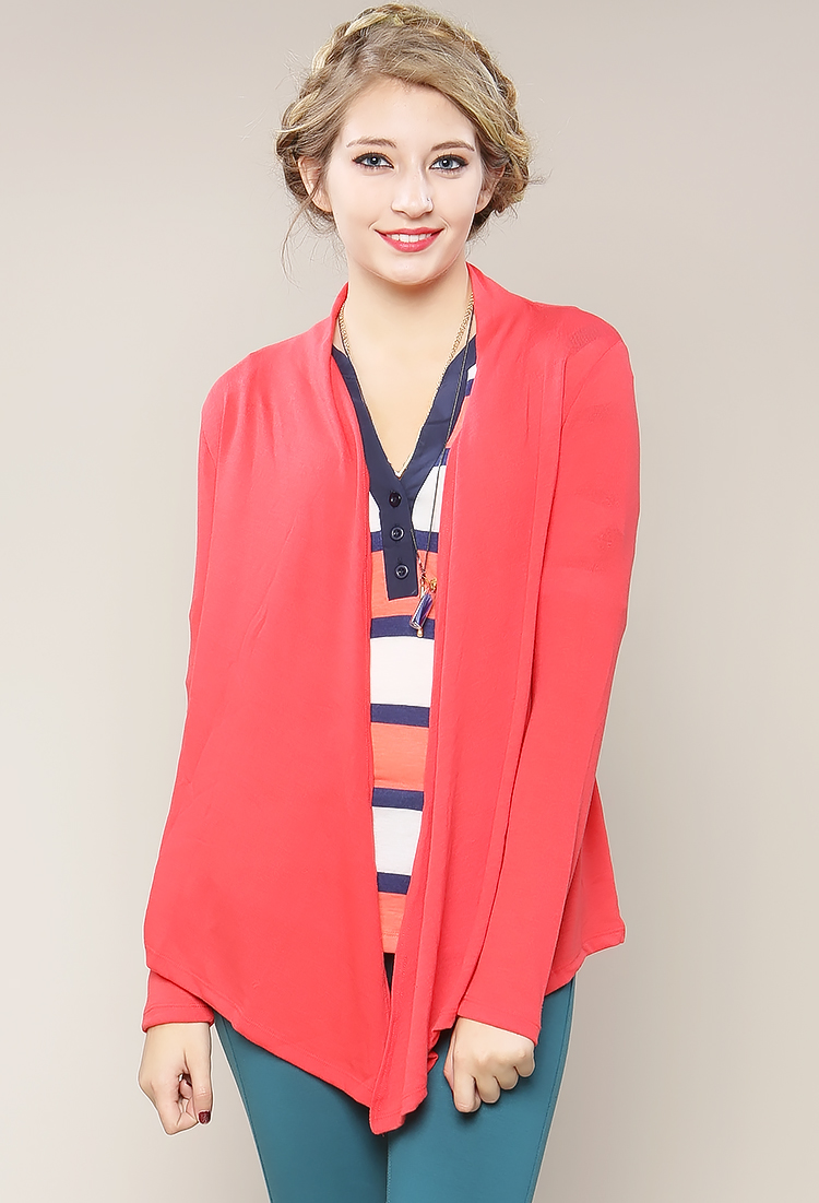 front acevog itm cardigan drape sleeve long knit waterfall asymmetric open women draped drapes
