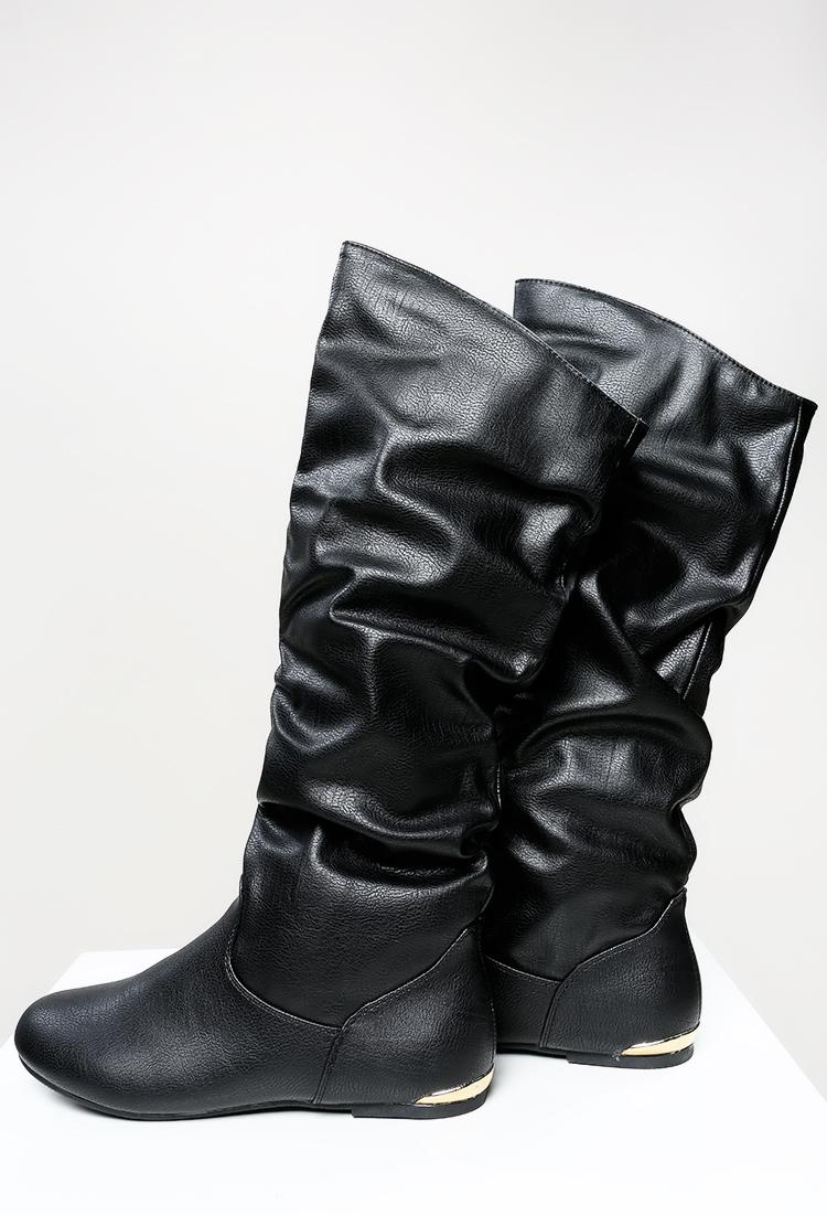 Winter Essential Long Flat Boots | Shop Shoes at Papaya Clothing
