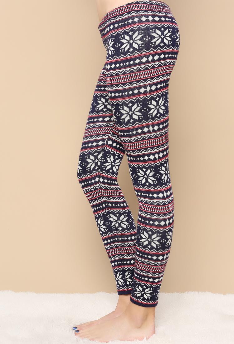 Knit Leggings Pattern : Fair Isle Pattern Knit Leggings Shop at Papaya Clothing