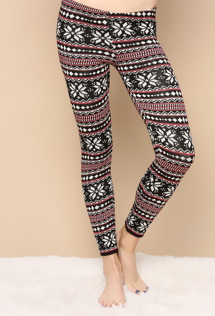 Knit Leggings Pattern : Fair Isle Pattern Knit Leggings Shop Leggings & Jeggings ...