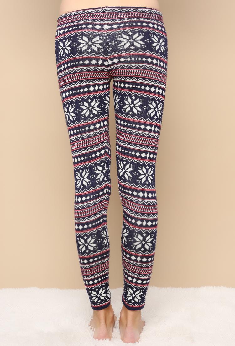 Fair Isle Pattern Knit Leggings Shop Leggings & Jeggings at Papaya Clot...