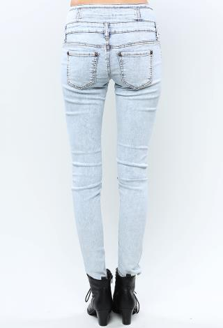 High Waisted Acid Wash Jeans | Shop Jeans at Papaya Clothing