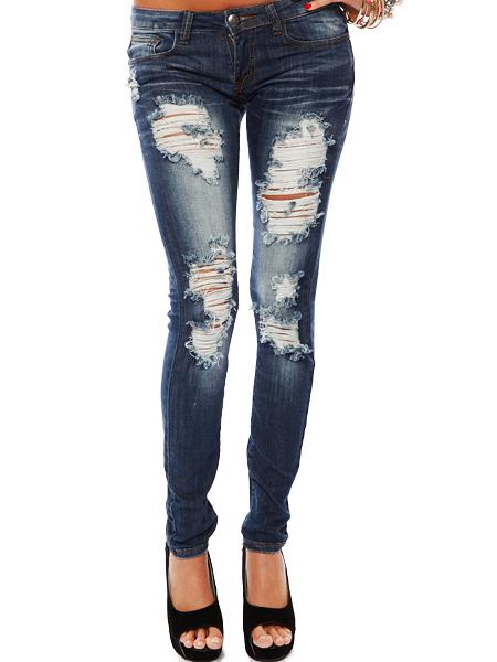 DESTROYED DENIM JEANS | Shop Jeans at Papaya Clothing