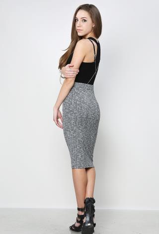 Marled Knit Midi Skirt | Shop Skirts at Papaya Clothing