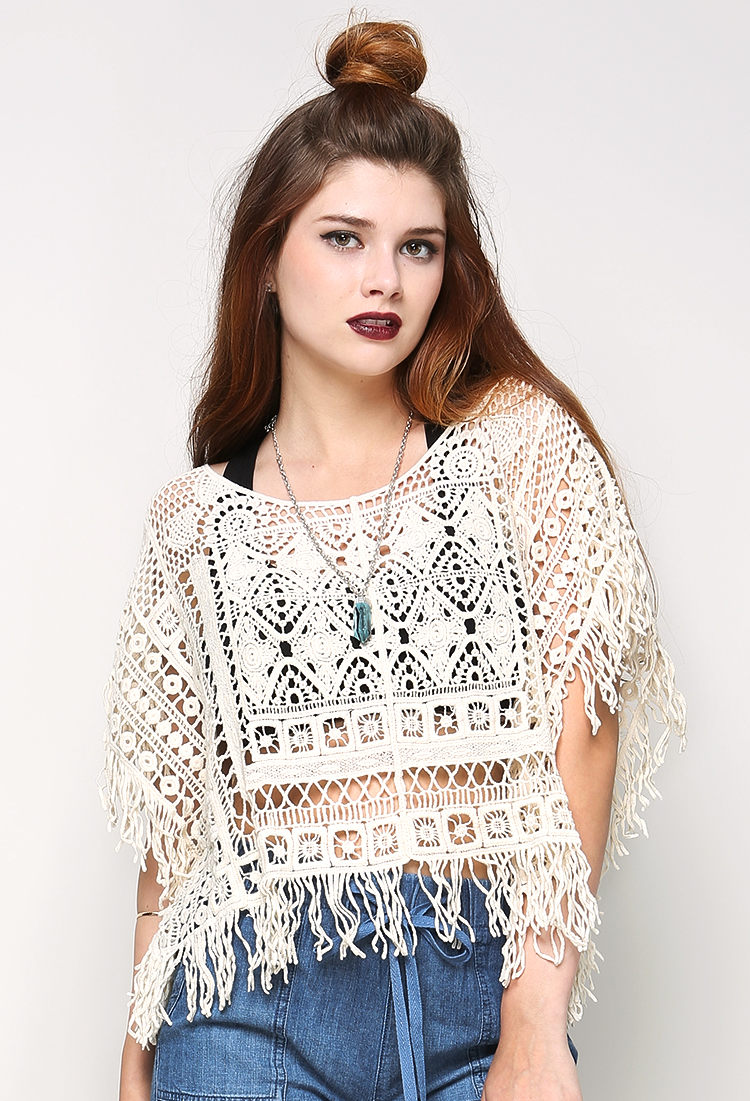 Crochet Fringe Top Shop Old New And Now At Papaya Clothing