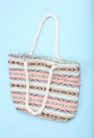 Tribal Beach Bag W/Inner Bag | Shop Bags & Wallets at Papaya Clothing