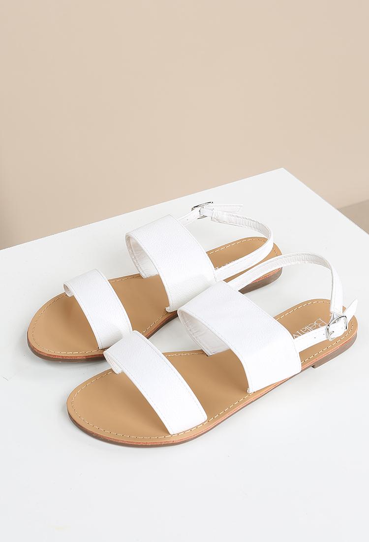 f1d5048a58b671 Faux Leather Slingback Sandals