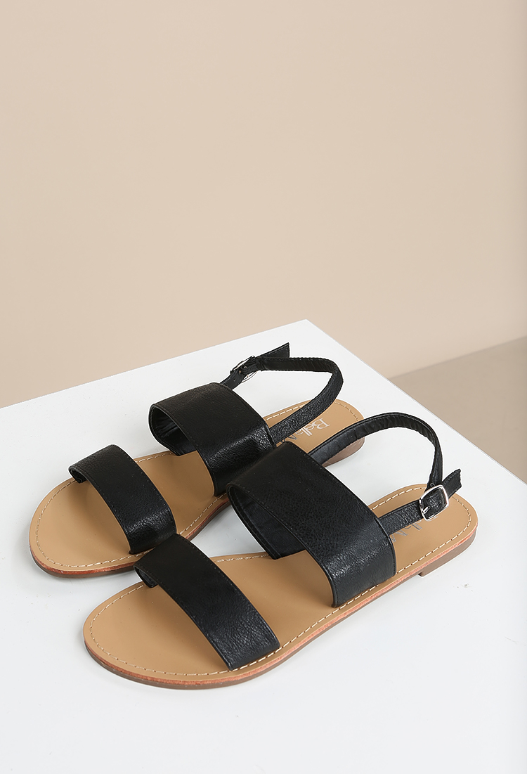 902bf537468454 Faux Leather Slingback Sandals ...