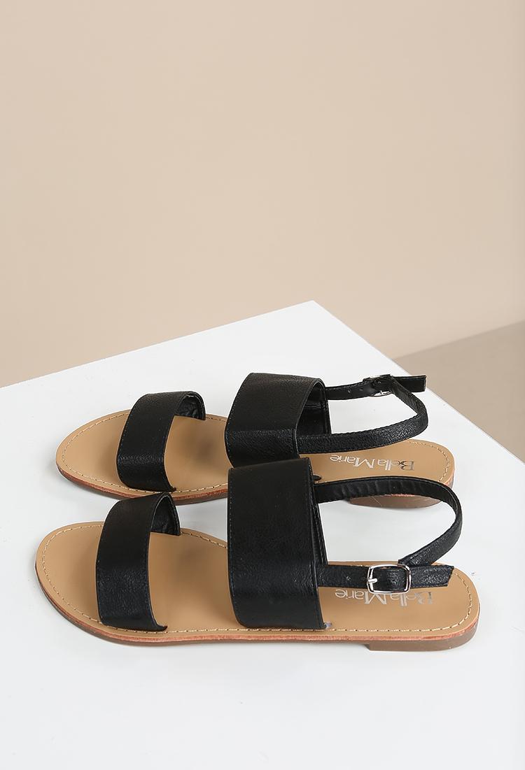 81af05803 Faux Leather Slingback Sandals
