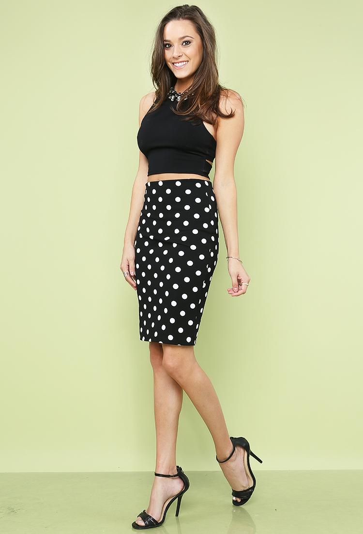 Polka Dot Pencil Skirt | Shop Bottoms Under$10 at Papaya Clothing
