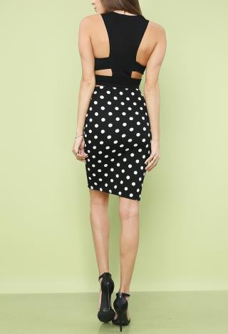 Polka Dot Pencil Skirt - Dress Ala
