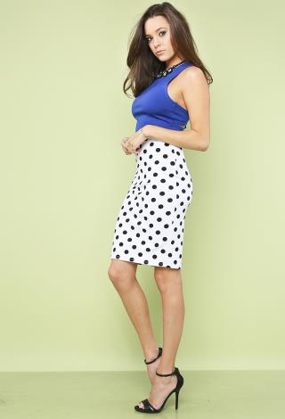 Polka Dot Pencil Skirt | Shop Bottoms Under$10 at Papaya Clothing