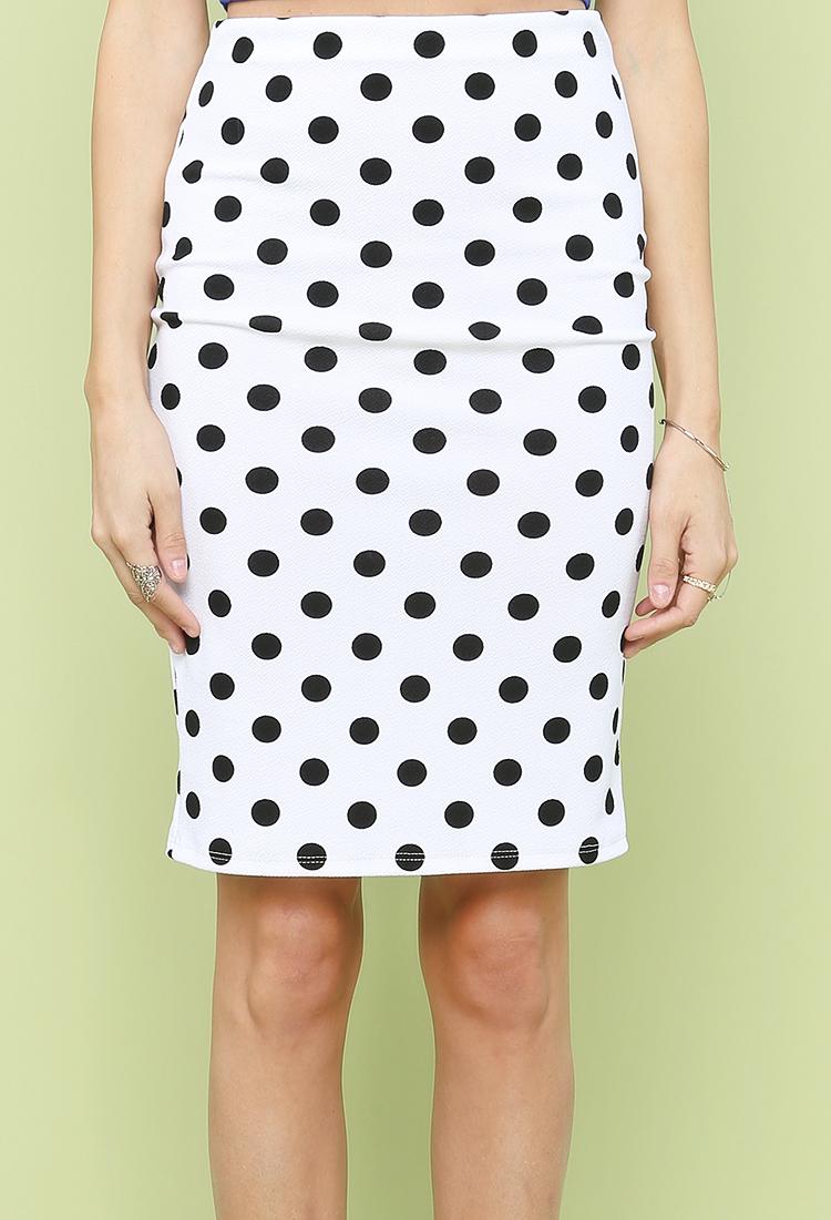 Polka Dot Pencil Skirt | Shop New And Now at Papaya Clothing
