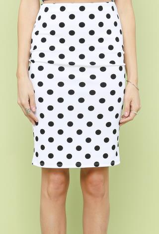 Polka Dot Pencil Skirt | Shop New And Now at Papaya Clothing