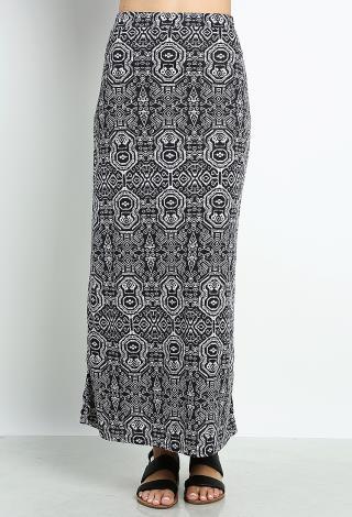 geo pattern maxi skirt shop clothing at papaya clothing