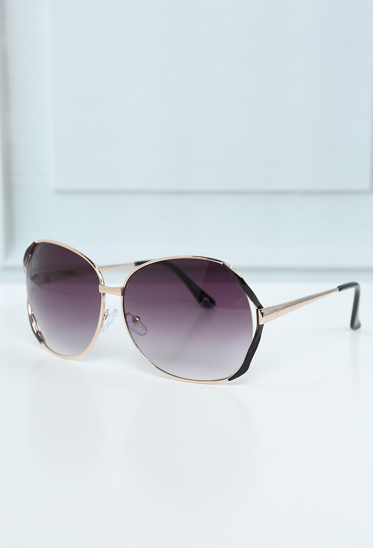Oversized D-Frame Sunglasses | Shop Sunglasses at Papaya Clothing