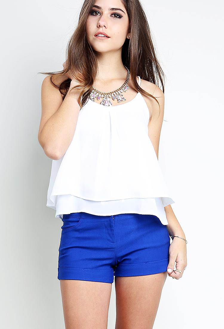 High-Waisted Dressy Shorts W/Belt | Shop Be Casual at Papaya Clothing
