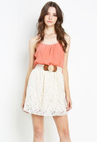 lace dress w belt shop dresses at papaya clothing