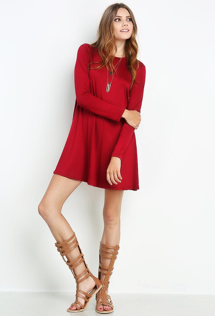 Long Sleeve T-Shirt Dress | Shop Day Dresses at Papaya Clothing