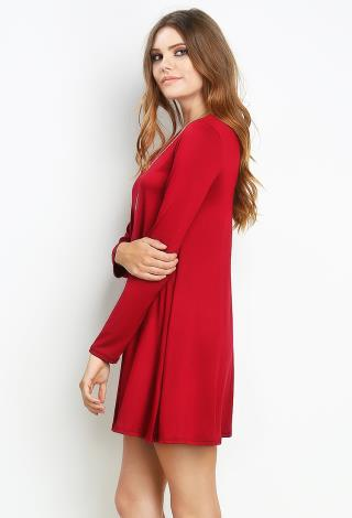 T Shirt Dress Red