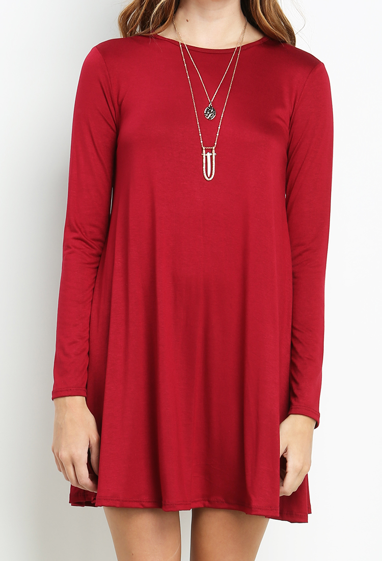 Long Sleeve T Shirt Dress Shop Dressy Tops At Papaya Clothing