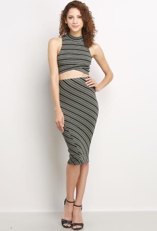 Diagonal Line Midi Skirt Shop Old Skirts At Papaya Clothing