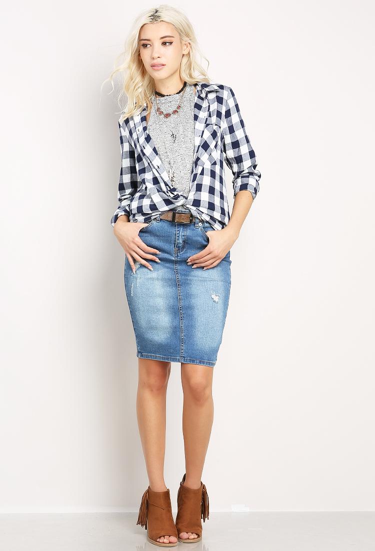 Midi Jean Skirt   Fashion Skirts