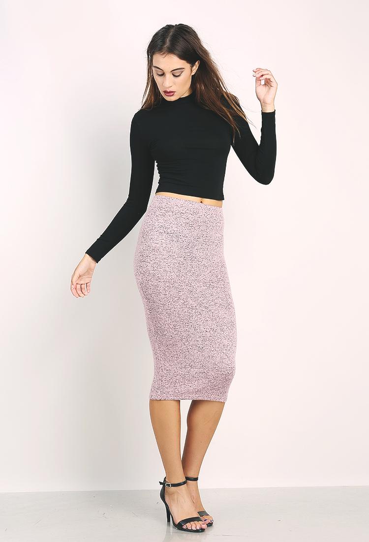 Knit Midi Skirt | Shop Skirts at Papaya Clothing