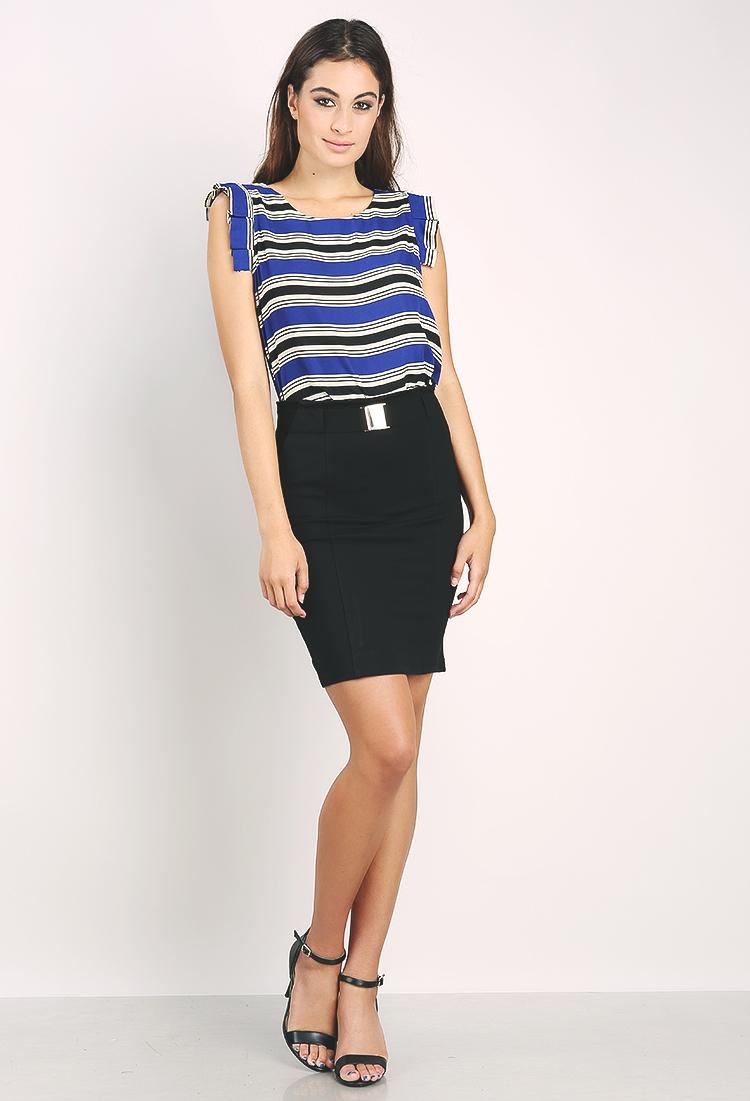 Belted Pencil Skirt   Shop Dressy Outfits at Papaya Clothing