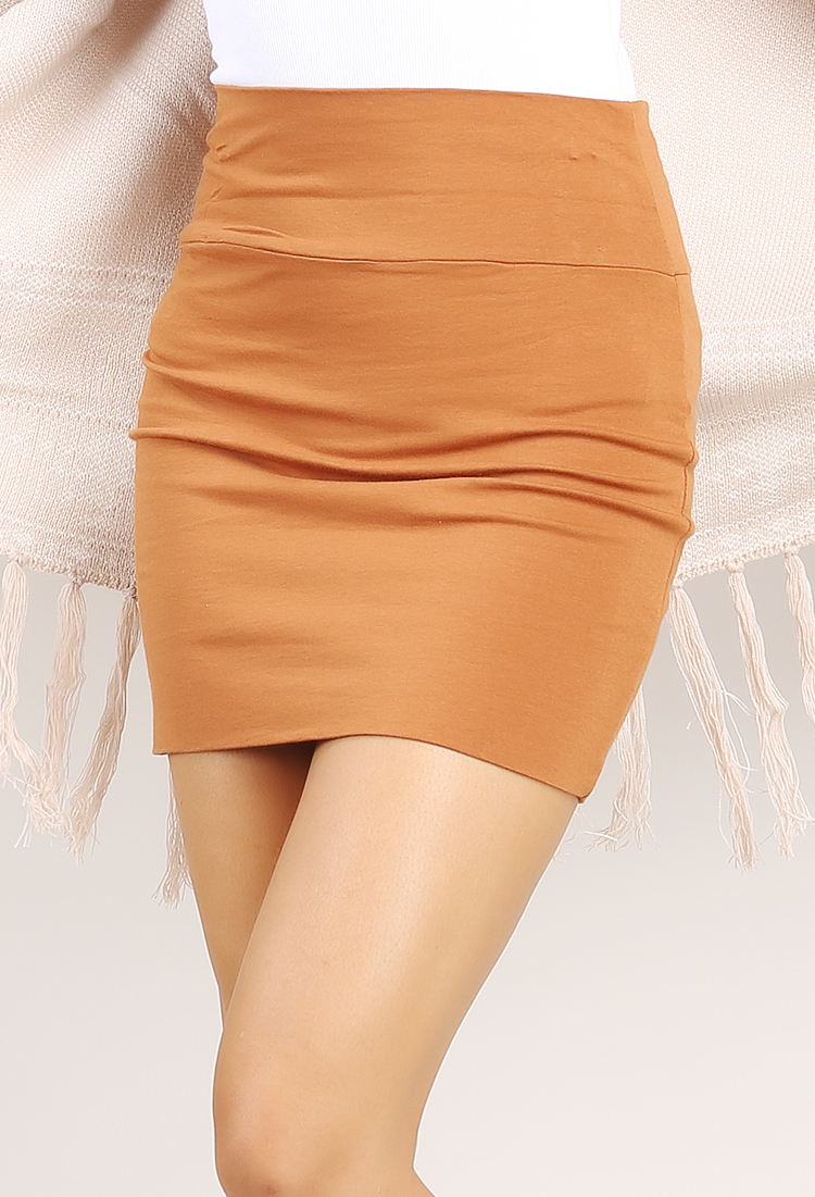 Solid Short Skirt