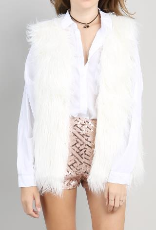 Shop our line of women's faux fur vests available in a variety of lengths with zip and hook closures and featuring a wide array of colors and animal prints. FREE SHIPPING ON ORDERS $+! USE CODE: EH. MY ACCOUNT Tan Fox Horizontal Faux Fur Vest SALE.