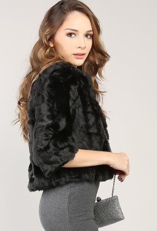Faux Fur Jacket | Shop Outerwear at Papaya Clothing