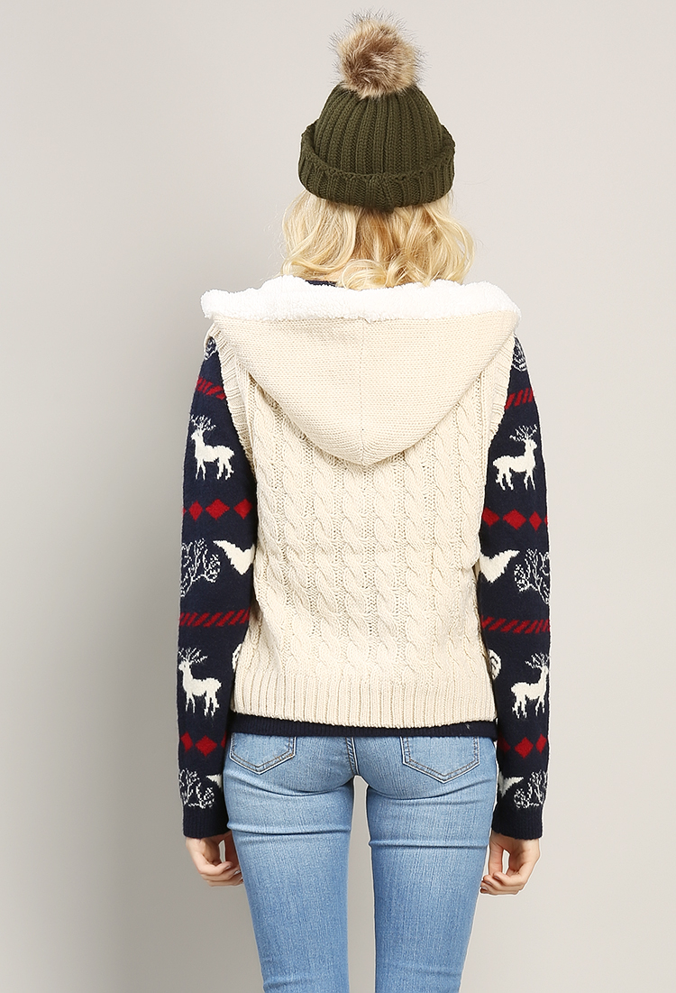Knitted Hooded Vest Pattern : Hooded Knit Vest Shop at Papaya Clothing
