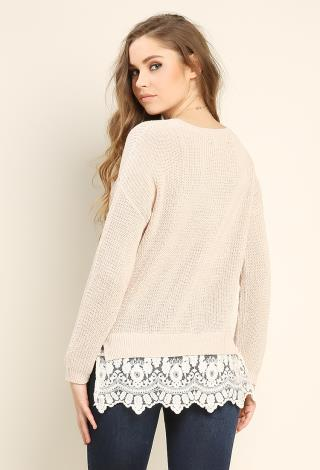 Lace Hem Sweater | Shop Holiday Sweater at Papaya Clothing