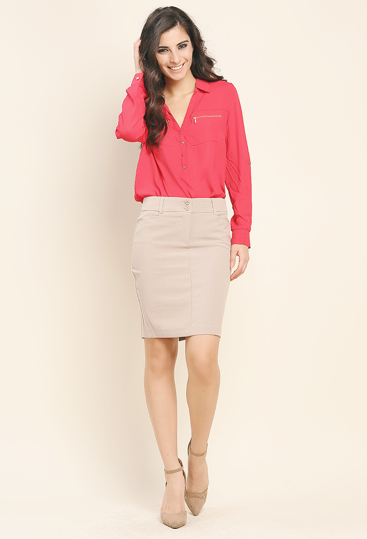 Two Buttoned Dressy Skirt