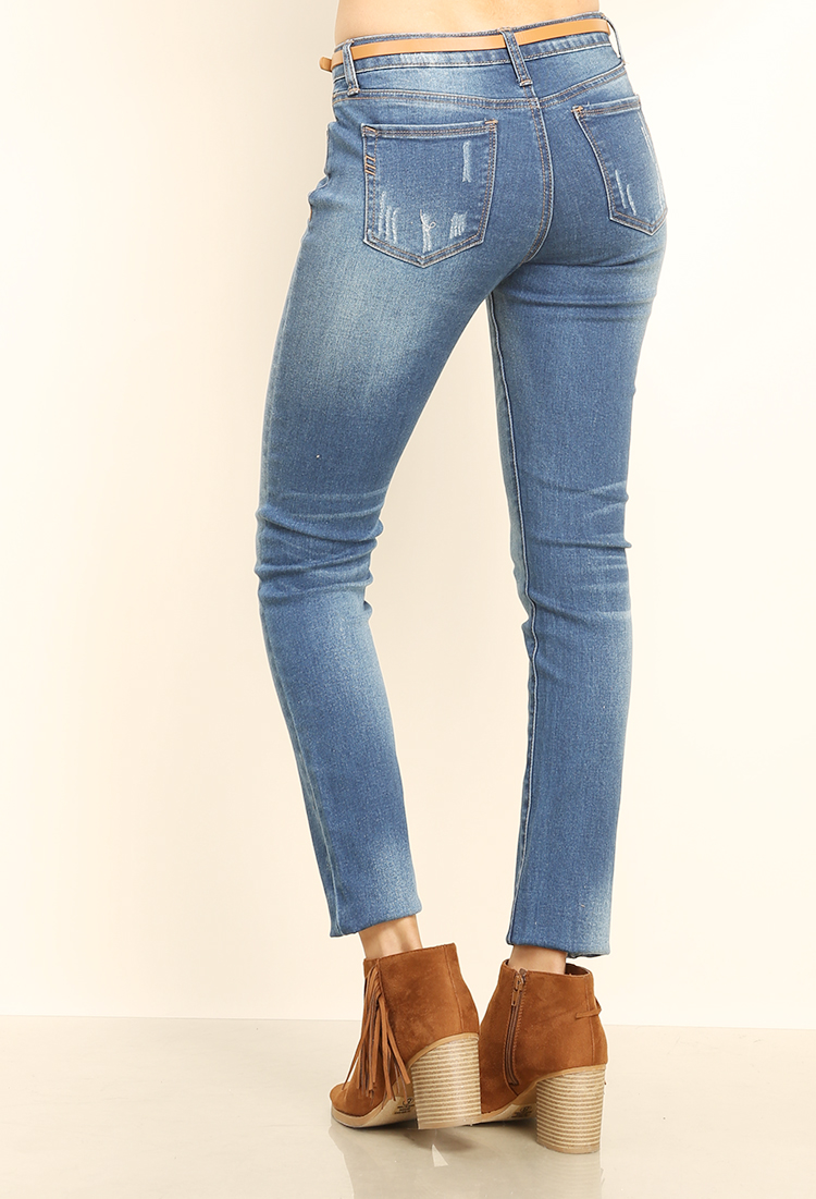 Premium Denim Jeans W/Belt | Shop at Papaya Clothing