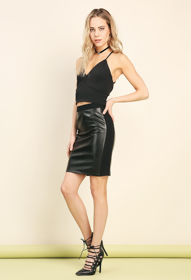 Leather Skirt Dress Ala