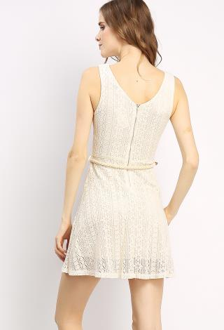 lace overlay dress w belt shop day dresses at papaya