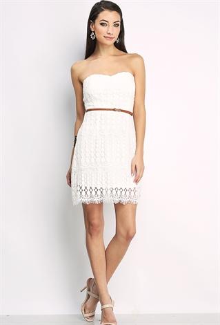 lace overlay dress w belt shop dresses at papaya clothing