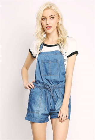 6f5ad04deaf Chambray Overall Romper Chambray Overall Romper Chambray Overall Romper ...