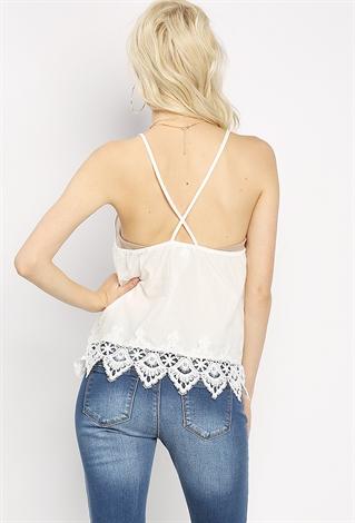 Embroidery LaceHem Top  Shop Blouse Amp Shirts At Papaya