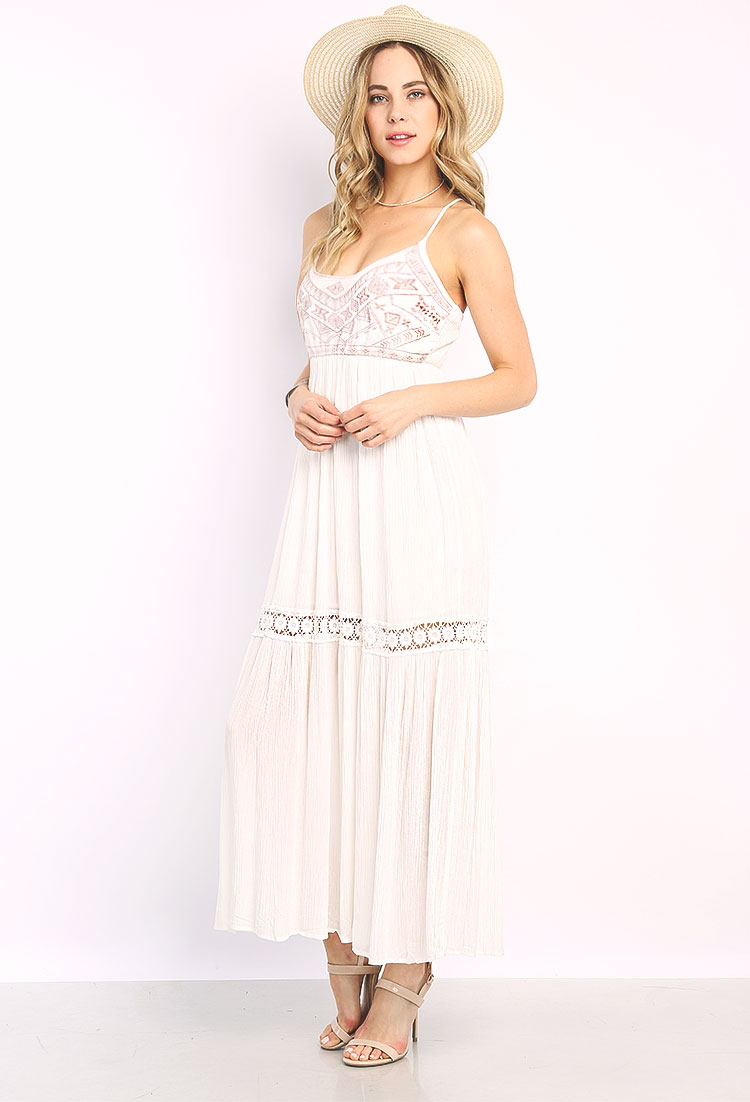 boho style lace maxi dress shop old dresses at papaya clothing. Black Bedroom Furniture Sets. Home Design Ideas