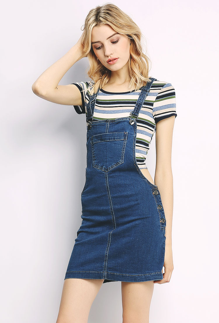 Overall Denim Skirt | Shop Dresses at Papaya Clothing