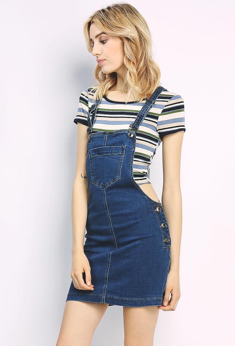 Overall Denim Skirt | Shop Jumpsuit & Romper at Papaya Clothing