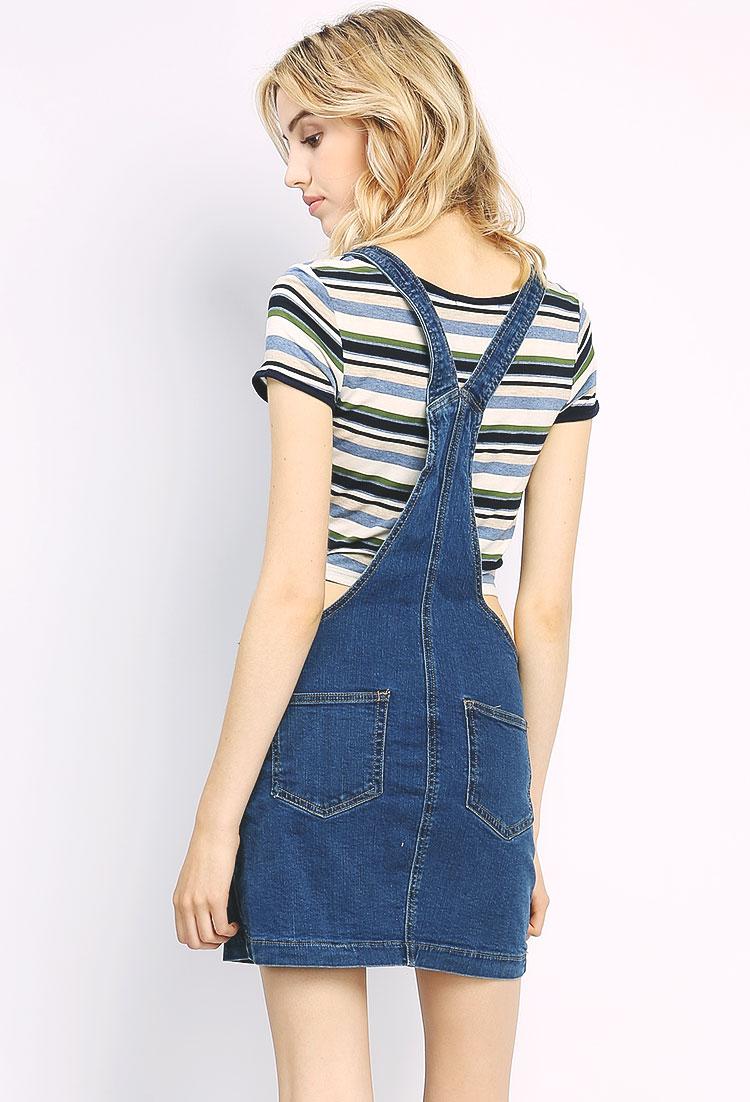 Overall Denim Skirt | Shop Dresses at Papaya Clothing